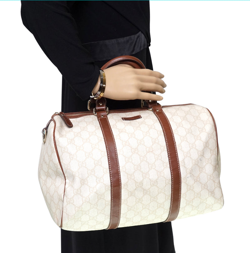 Pre-loved authentic Gucci Gg Satchel Bag Beige Coated sale at jebwa.
