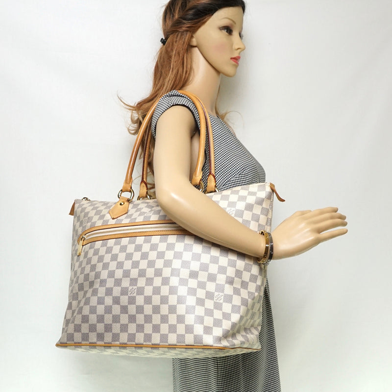 Pre-loved authentic Louis Vuitton Saleya Gm Damier Azur sale at jebwa