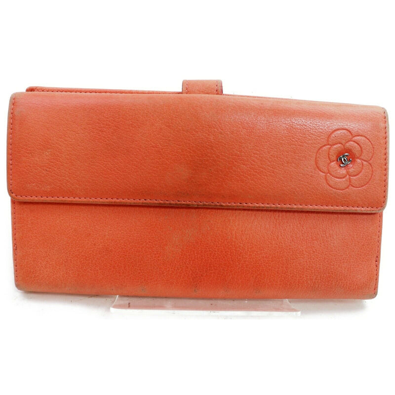 Pre-loved authentic Chanel Pink Leather Long Wallet sale at jebwa.