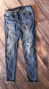 Judy Blue Distressed Patch Skinny Jeans