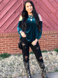 Judy Blue Black Distressed Skinny