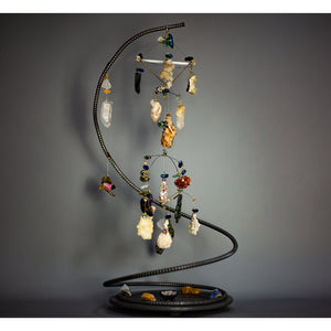 "Kinetic Mobile Sculpture ""Ether"" - elementsinmotion"