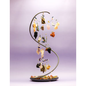 "Kinetic Mobile Sculpture ""Xena"" - elementsinmotion"