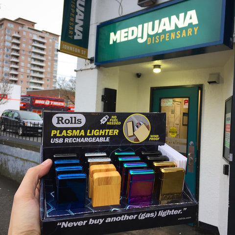 Rolls Plasma Lighter Medijuana Johnson Street Downtown Victoria