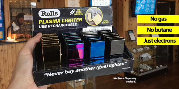 Rolls Plasma lighter display box for smoke shops