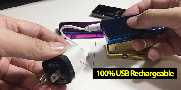 Charging a Rolls Plasma Lighter with USB cable