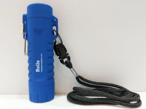 Blue Waterproof Flashlight Plasma Lighter