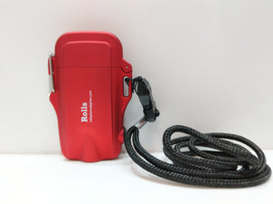 Red Compact Waterproof Flashlight Plasma Lighter with Lanyard