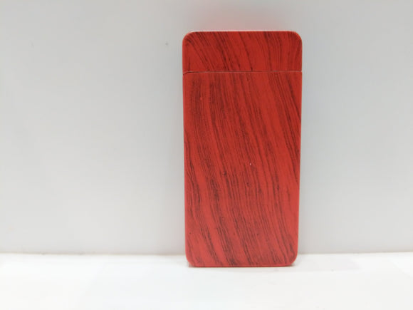 Red Wood USB Rechargeable Electric Plasma Lighter