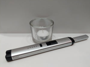 Silver BBQ & Candle Electric Plasma Lighter