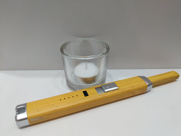 Yellow Wood BBQ Candle Plasma Electric Lighter