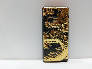 Gold black Chinese Dragon Dual Arc Plasma Lighter
