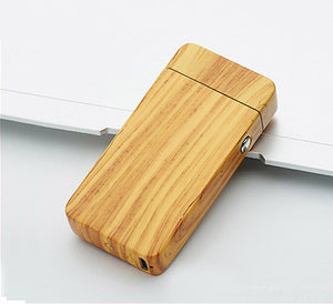 Birch Wood USB Rechargeable Electric Plasma Lighter