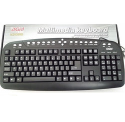 DGM KD033 desktop computer wired Multimedia Keyboard Black PS/2 KD033 US International Layout
