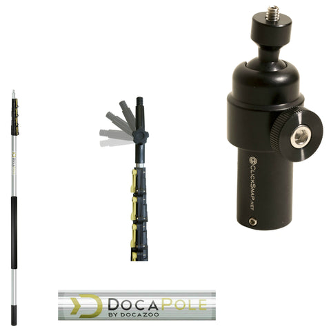 DocaPole 24 Foot Extension Pole + Swivel Camera Attachment