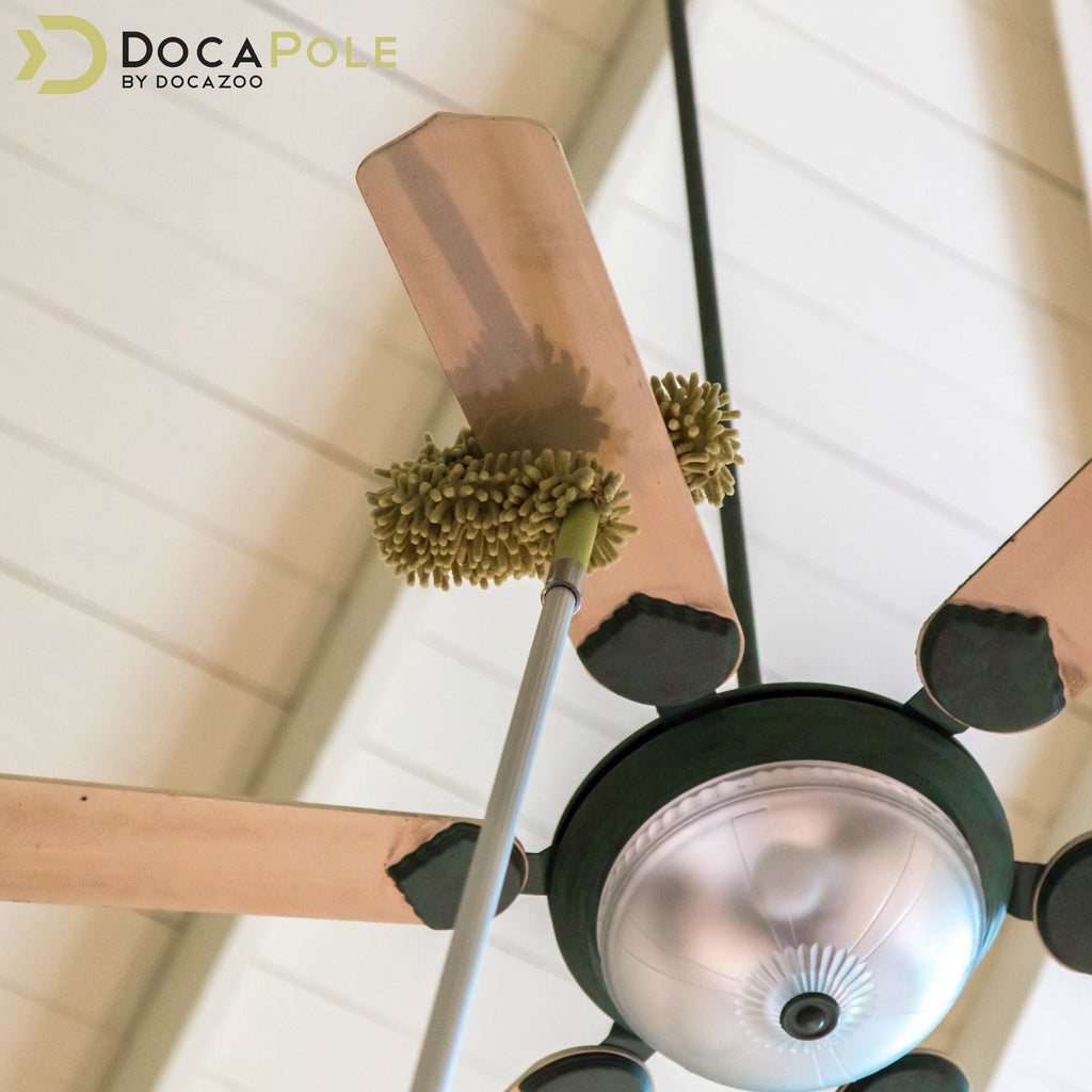 DocaPole 12 Foot Extension Pole with Microfiber Ceiling Fan Duster ...