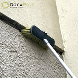 "DocaPole Medium Bristle Deck Brush and Scrub Brush Extension Pole Attachment (10"")"