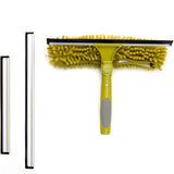 DocaPole Window Squeegee + Scrubber Combo Attachment (w/3 Squeegee Blades)