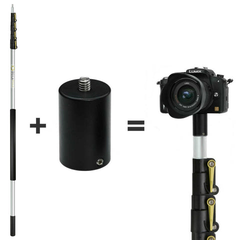 DocaPole 30 Foot Camera Pole – 7-30 ft Extension Pole + ClickSnap Camera Adapter
