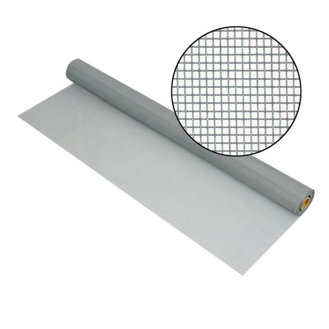 "DocaScreen Standard Window Screen Roll – 48"" x 100' Fiberglass Screen Roll (Gray)"