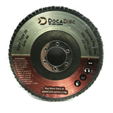 4.5 inch Flap Disc (10 Pack) - 40 Grit Type 29 Professional Grade Zirconia - Abrasive Grinding Wheel