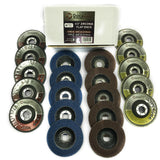 4.5 Inch Flap Disc (20 Pack Assortment) - 40 Grit Type 29 (10pc) and 80 Grit Type 27 (10pc)