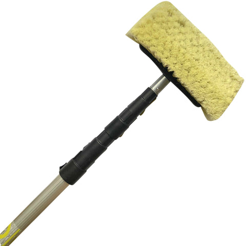 "DocaPole 6-24' Soft Bristle Car Wash Brush & Extension Pole |11"" Scrub Brush with 24 Foot Handle 