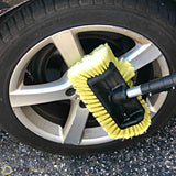 "DocaPole 5-12' Soft Bristle Car Wash Brush & Extension Pole |11"" Scrub Brush with 12 Foot Handle 