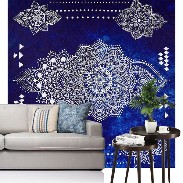 Hot New Indian Mandala Tapestry Hippie Flower Peacock Home Decorative Wall Hanging Boho Beach Towel Bohemia Yoga Mat Bedspread