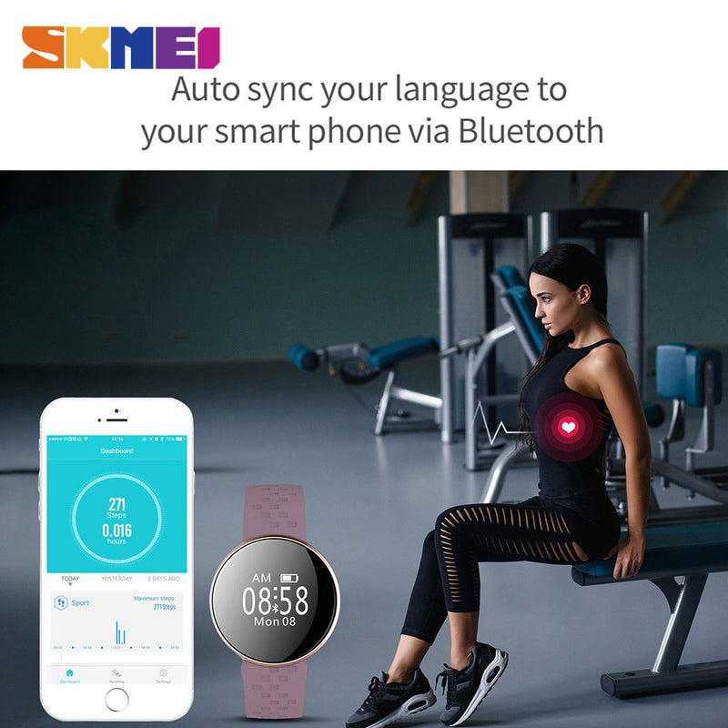 Glam Girl Smart Watch for IOS Android with Fitness Heart Rate Monitor