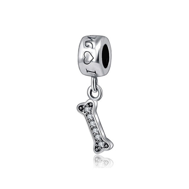 Original Pure Silver Charm Bead For Necklace or Bracelet