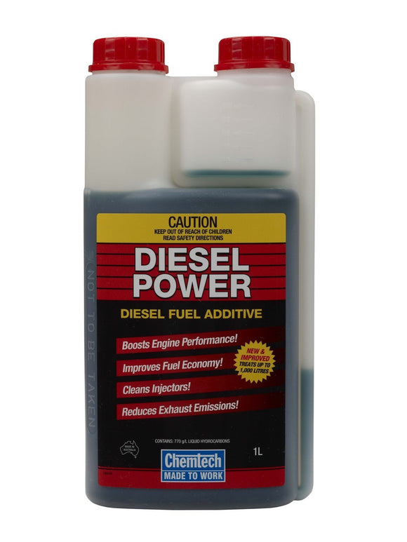 Chemtech Diesel Power Fuel Additive Clean Improve Economy Performance 1L