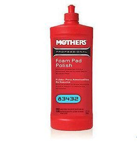 Mothers Professional Foam Pad Polish 946ml 83432 Swirl Removal Auto Car Paint