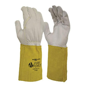 Maxisafe FireForce Extended Cuff Hand Proection Safety Protect Riggers Gauntlet