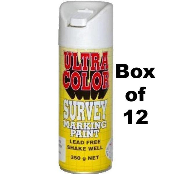 Ultracolor Survey Marketing Spot Marker Aerosol 350g White x 12