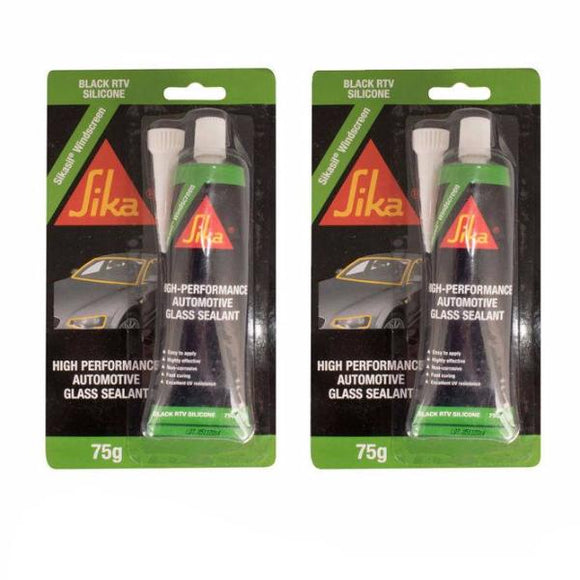 Sika Sikasil Windscreen High Performance Automotive Glass Sealant Black 75g x 2