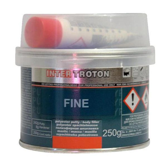 Troton Premium Fine Body Filler Includes Hardener 250g Auto Car Dent Bog Panel