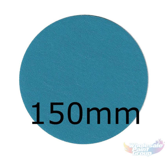 Revcut Blue Sanding Paper Grit P120 150mm 100 Film Discs Hook & Loop Wet/Dry