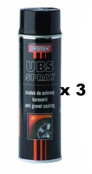 Troton Stone Guard Aerosol  UBS Anti Gravel Protect Car Body Black 500ml x 3