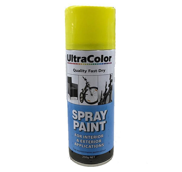 Spray Paint Fast Drying Interior Exterior Horizontal Vertical 250g Buttercup