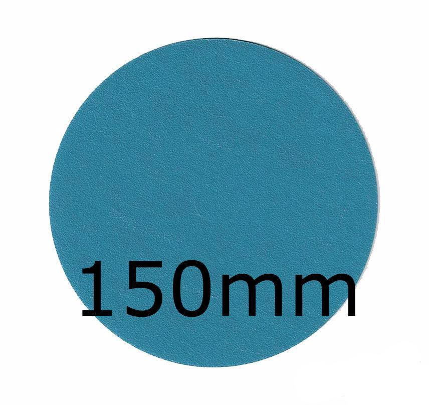 Revcut Blue Sanding Paper Grit P240 150mm No Hole 100 Discs Hook & Loop Sander