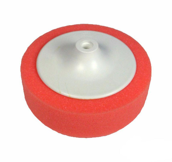 6'' Polishing Foam Buff Head Pad With Backing Plate Red 150mm x 50mm Spray Paint