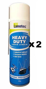 Lanotec Heavy Duty Liquid Lanolin Spray 400g x 2