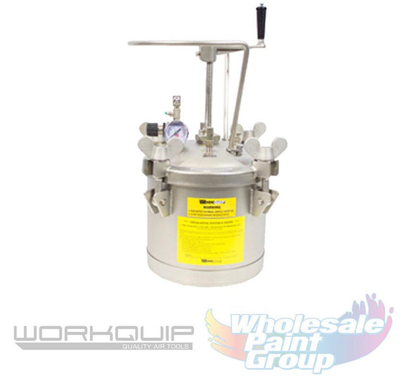 Workquip Manual Agitation 10L Stainless Steel Tank 02210M-SS Lid Fluid Passages