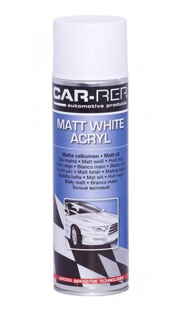 Professsional Automotive Paint Panel Spray White Matt Acrylic Aerosol 500ml