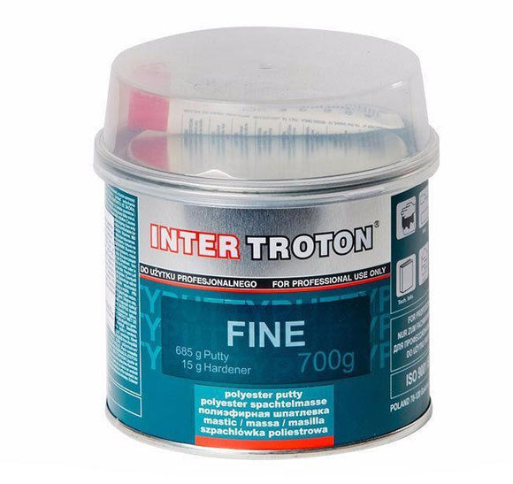 Troton Premium Fine Body Filler Includes Hardener 700g Auto Car Dent Bog Panel