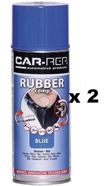 Blue Durable Removable Rubber Plasti Dip Wheel Rim Spray Paint Can 400ml x 2