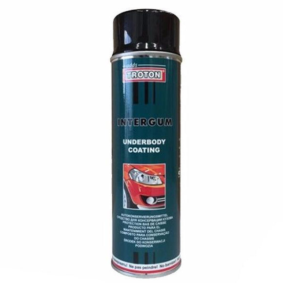 Troton Intergum Underbody Coating Bitumen Aerosol Spray 500ml Car Auto Protect