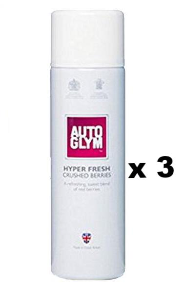 Autoglym Hyper Fresh Crushed Berries Auto Car Fragrance 450ml x 3