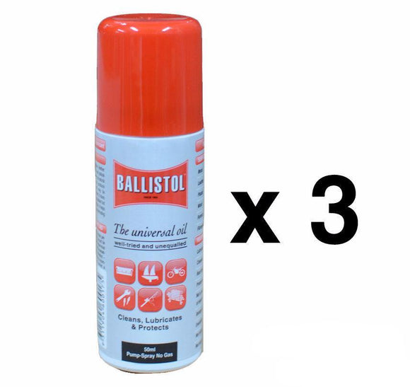Bondall Ballistol 50ml Lubricant Pump Spray Can Cleans Lubricate Protect  x 3